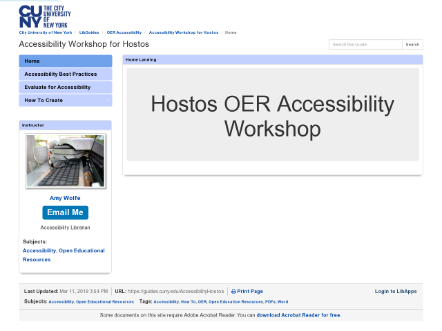 Home pg of Hostos workshop, click image to go to guide.